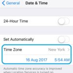 setting iphone time zone manually