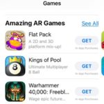games with ar support features in the app store