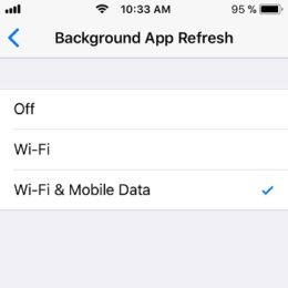 ios 11 background app refresh options