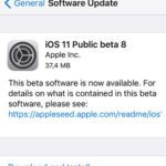 ios 11 public beta 8 software update screen.