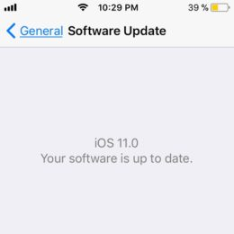 ios 11 your software is up to date
