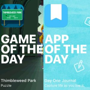 thimbleweed park and day one journal game and app of the day
