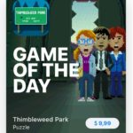 thimbleweed park game of the day