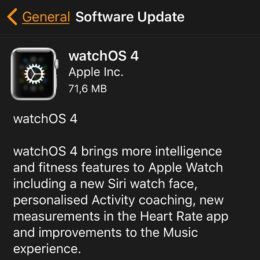 watchos 4 gm software update screen