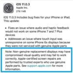 apple promoting certified screen repairs in ios 11.0.3 release notes