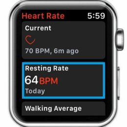apple watch resting heart rate feature in watchos 4