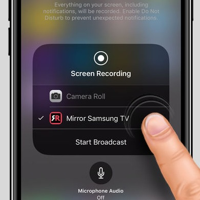 how to mirror your iphone or ipad to a samsung tv without