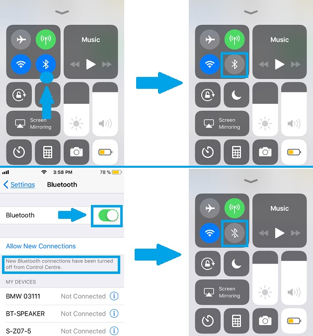 How To Manage Wi-Fi And Bluetooth Connectivity In iOS 11