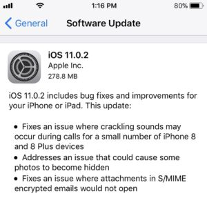 ios 11.0.2 software update