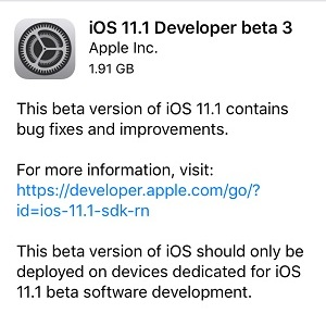 ios 11 3 developer beta 3