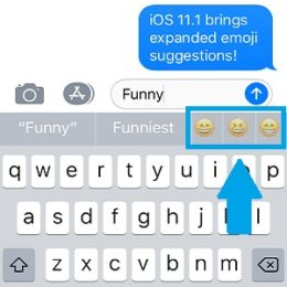 ios 11.1 multiple emoji suggestions feature