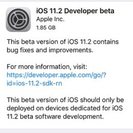 ios 11.2 developer beta update