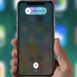 iphone x slide to power off screen