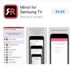 mirror for samsung tv ios app