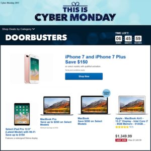 Best Buy Doorbusters and Cyber Monday deals.