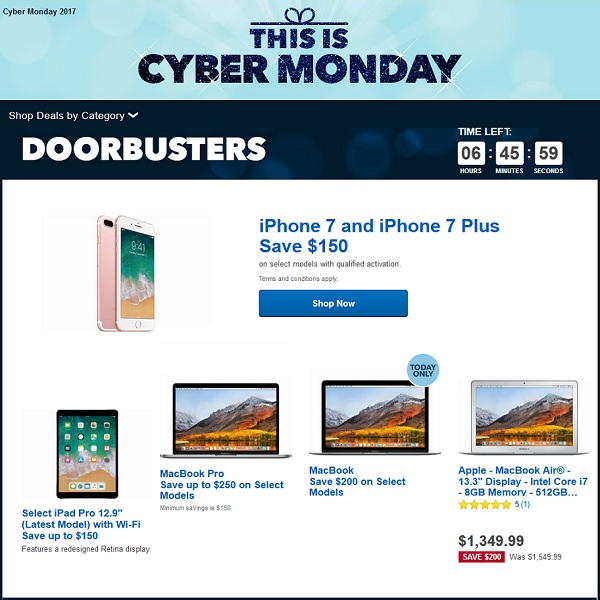 Best cyber monday deals on apple products