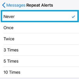 ios 11 repeat message alerts setting