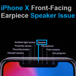 iphone x earpiece speaker placement