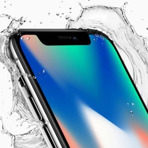iphone x in contact with water