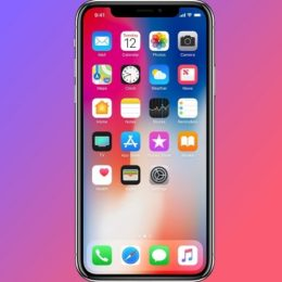 iPhone X Super Retina OLED display.