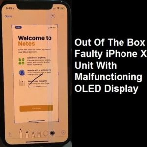 out of the box faulty iphone x oled display