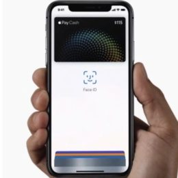 Apple Pay Cash and Face ID.