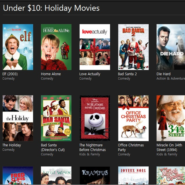 New batch of itunes movie sales includes holiday titles Classic home appliance films