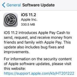 iOS 11.2 Software Update