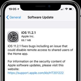 iOS 11.2.1 Software Update screen.