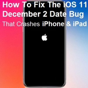 iPhone X restarting because of December 2 date bug.
