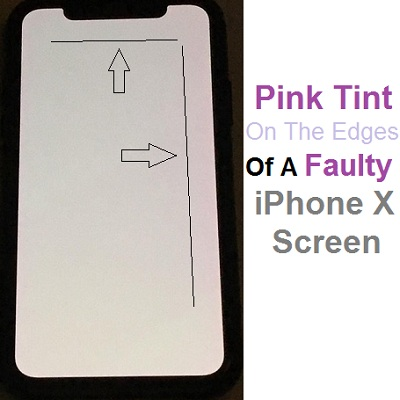 huge discount 8c781 b1f37 How To Fix The Pink Tint Displaying On The Edges Of The iPhone X ...