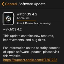 watchOS 4.2 software update