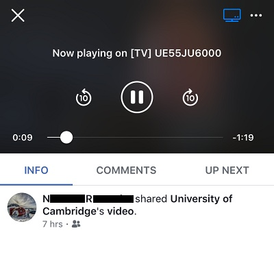 Tip To Mirror Facebook For iOS To Any Smart TV Without Using