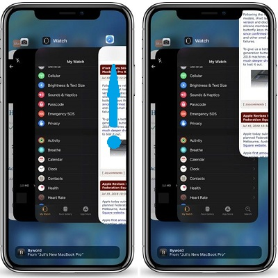 Close applications on iphone xr