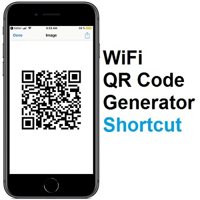 iOS 12 Shortcut For Creating A QR Code With The Log-in Details Of