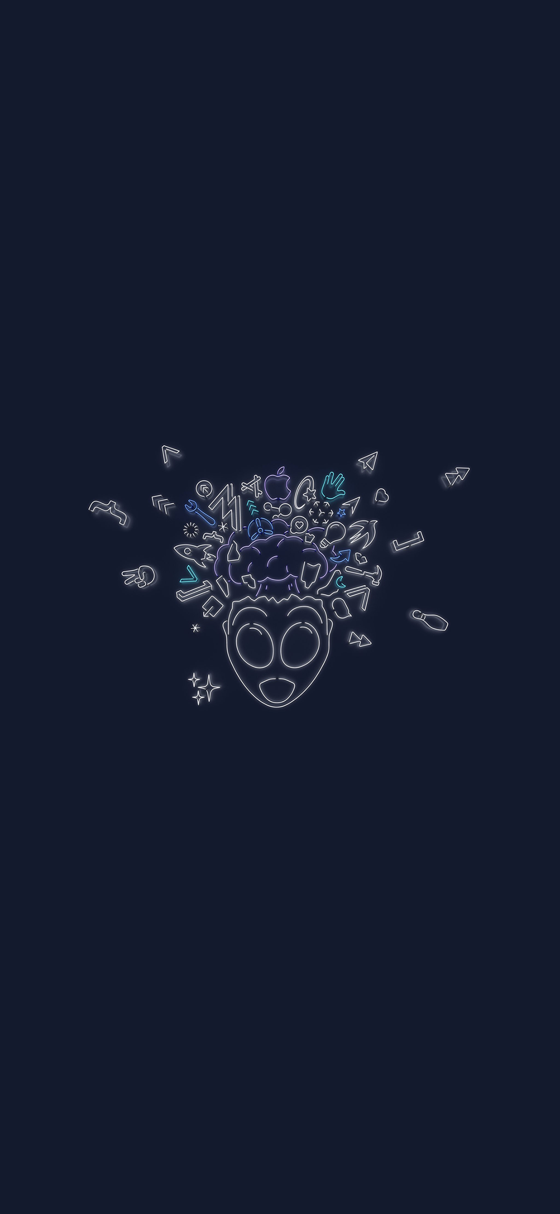 Download The Wwdc 2019 Dark Mode Themed Wallpapers For Iphone