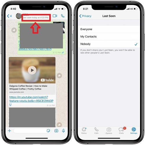 How To Hide Last Seen And Read Receipts Info From Your WhatsApp Profile | iPhoneTricks.org