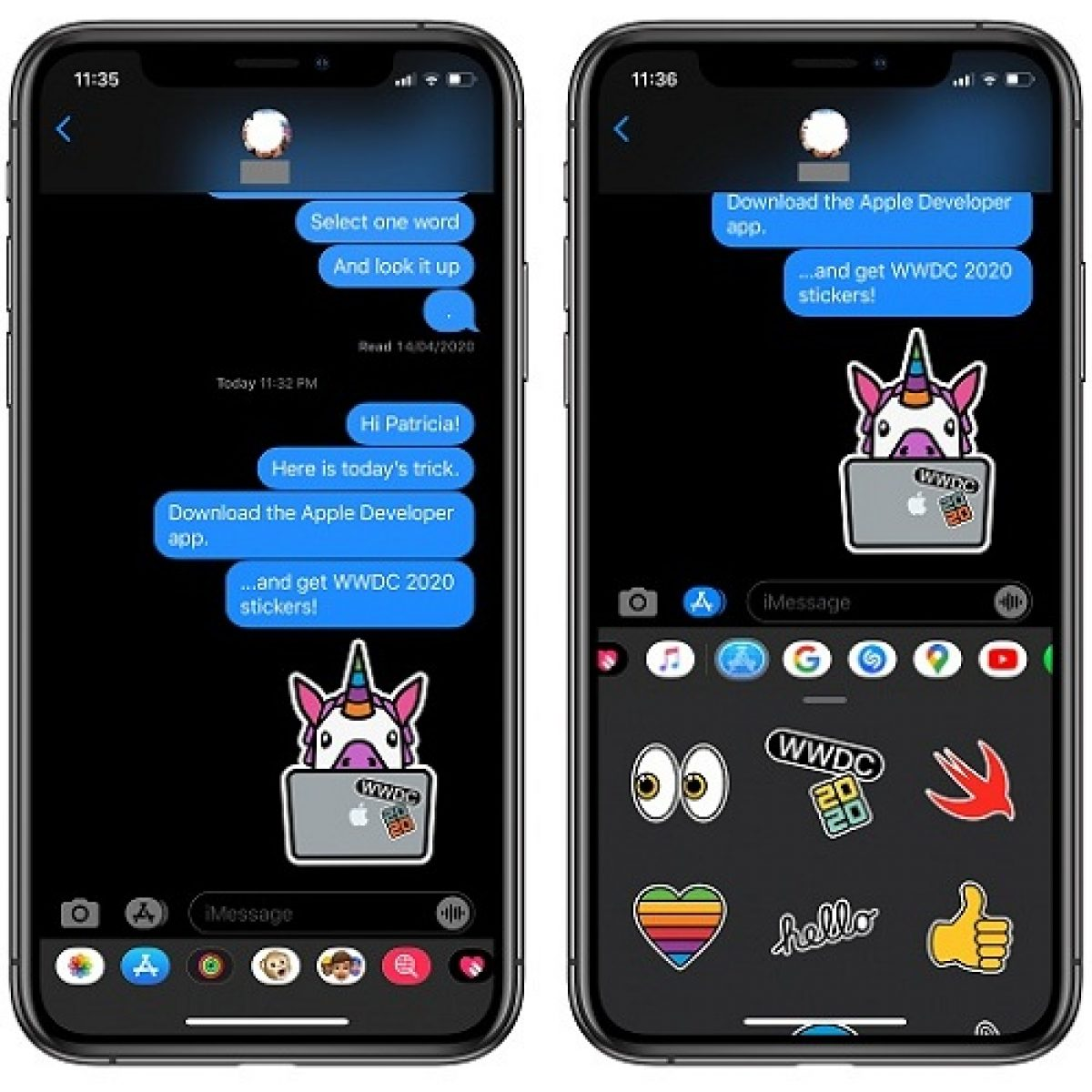 How To Unlock Wwdc 2020 Stickers In Messages On Iphone Ipad And Mac