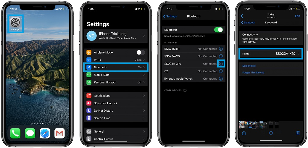 How To Change The Name Of Bluetooth Devices In Ios 14