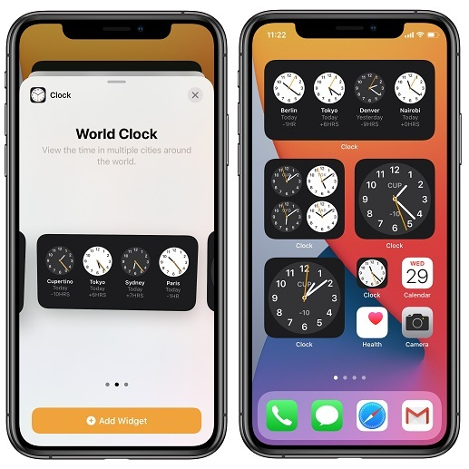 How To Use The Iphone Home Screen Clock Widget Ios 14